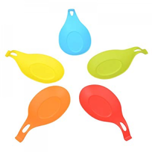 One Day Only!Kitchen Silicone Spoon Rest now 65.0% off , Flexible Almond-Shaped Silicone Kitchen S..