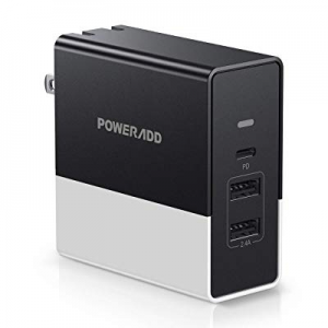 One Day Only!POWERADD 57W USB C Wall Charger with One Power Delivery 45W Port and 12W Ports now 25..