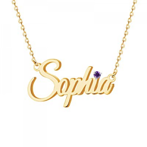 One Day Only!Custom Name Necklace Personalized,Name Plate Necklace 18K Gold Jewelry Gift for Women..