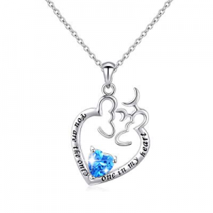 One Day Only!60.0% off JZMSJF Mom Necklace S925 Sterling Silver I Love You Mom Heart Pendant Neckl..