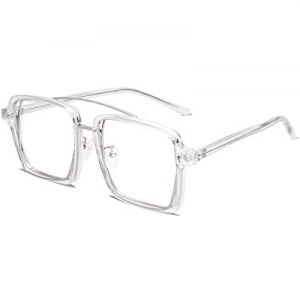 SOJOS Oversized Square Clear Lens Glasses Eyewear for Men and Women SJ5020 now 70.0% off