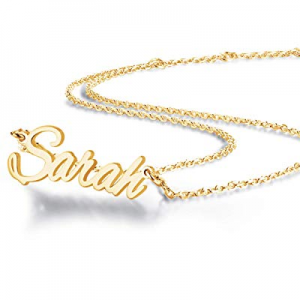 TinyName Personalized Name Necklace now 65.0% off , 18K Gold Custom Name Necklace Personalized Dai..