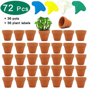 36 Pcs Small Mini Clay Pots now 30.0% off , PETUOL 2inch Tiny Terracotta Pots Clay Ceramic Pottery..
