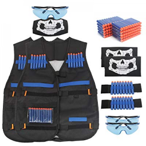 AMOSTING Kids Tactical Vest for Nerf N-Strike Elite Series Guns Toy with Refill Darts now 40.0% of..