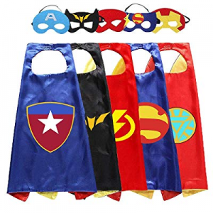 Aodai Costumes and Dress up for Kids - Capes and Masks Suitable for Superhero Party Kids Best Gift..