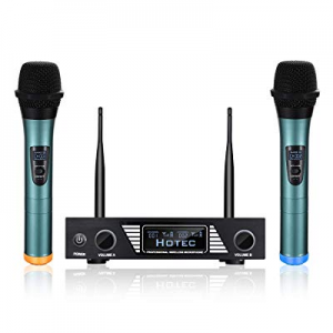 One Day Only!Hotec UHF Wireless Microphone System with Dual Handheld Microphone Over PA now 25.0% ..