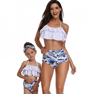 One Day Only!40.0% off Sherrylily Womens High Waisted Bikini Swimsuit Mommy and Me Family Matching..