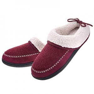 30.0% off Women's Slippers House Shoes Memory Foam Ladies Warm Winter Wool-Like Lining Slip on Clo..