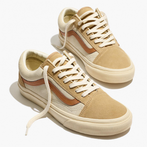 Madewell x Vans® Unisex Old Skool Lace-Up Sneakers in Camel Colorblock @ Madewell