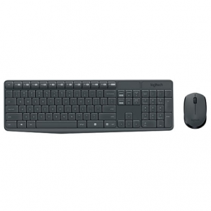 Logitech MK235 USB Wireless Optical Keyboard and Mouse Set @ Staples