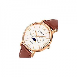 One Day Only!Men and Women's Quartz Watch now 5.0% off , Cleemar Classic Fashion Analog Waterproof..