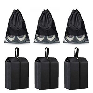 One Day Only!50.0% off Kntiwiwo Travel Shoe Bags Zipper Drawstring Large Waterproof Shoe Pouch for..