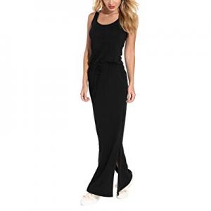 LaSuiveur Women's Casual Sleeveless Tank Top Slim Fit Side Slit Long Maxi Dress now 60.0% off