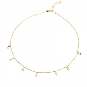 70.0% off Lateefah Gold Chain Choker Necklace Jewelry Women Handmade Necklace Jewelry Set 14k Plat..