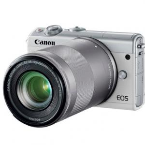 Best Buy - 佳能 Canon EOS M100 微单带 EF15-55mm + 55-200mm  IS STM 双镜头,仅$599.99