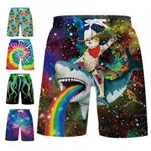 TUONROAD Boys Teens 3D Graphic Swim Trunk Breathable Waterproof Kids Boardshorts 5-14 Years now 30..
