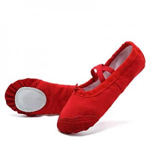 50.0% off Ballet Shoes Ballet Slippers Girls Ballet Flats Canvas Dance Shoes Yoga Shoes(Toddler/Li..