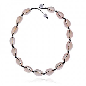 70.0% off BRIGHT MOON Chain Shell Necklace Choker Adjustable Handmade Bohemian Hawaii Beach Cowrie..