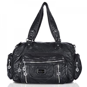 One Day Only!Angel Barcelo Womens Soft Leather Top-handle Bag Handbags and Purses Casual Shoulder ..