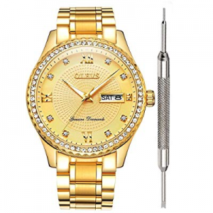 One Day Only!50.0% off Classic Luxury Watches for Men -OLEVS Watch Calendar 2019 Waterproof Analog..
