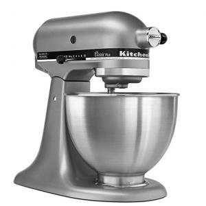 KitchenAid KSM75SL 4.5夸脱经典搅拌机 银色/白色 @Amazon