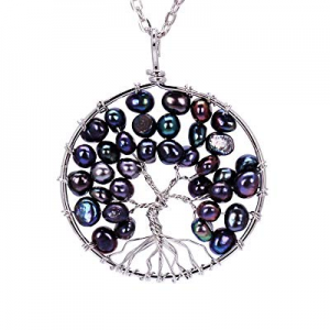 One Day Only!sedmart Tree of Life Pendant Amethyst Rose Crystal Necklace Gemstone Chakra Jewelry n..