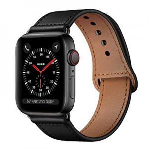 KYISGOS Compatible with iWatch Band 44mm 42mm now 10.0% off , Genuine Leather Replacement Band Str..