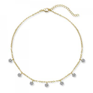 One Day Only!65.0% off Lateefah Gold Star Pearl Choker Necklace -4 Pieces Set Dainty Pendant Handm..