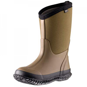 One Day Only!MCIKCC Kids Rubber Rain Boots now 20.0% off , Waterproof Solid Classic Pull On Snow W..