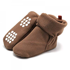Unisex Baby Cozy Fleece Booties now 51.0% off , Infant Toddler Girls Boys Winter Warm Socks Non-sl..