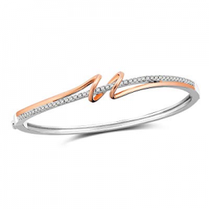 SNZM Rose Gold Bangle Bracelets for Women Silver Adjustable Bracelets Jewelry for Mothers Day now ..