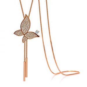 Kemstone Rose Gold/Gold Crystal Accented Adjustable Animal Y Necklace Jewelry now 55.0% off