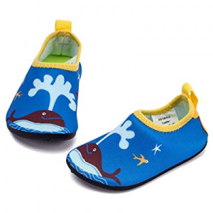 RANLY & SMILY Kids Water Shoes Barefoot Beach/Pool Swim Aqua Socks for Toddler/Boys/Girls now 20.0..