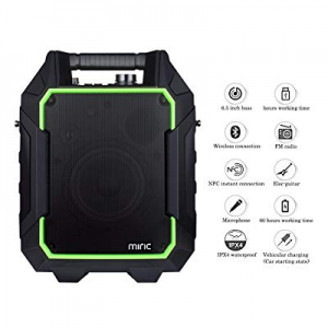 Miric Portable PA Speaker Bluetooth 60W now 60.0% off , PA Speaker with NFC/USB Charge Port/3.5mm ..