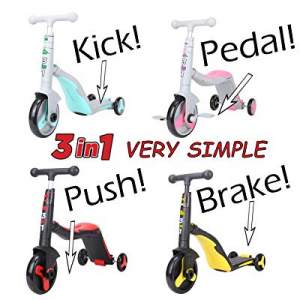 One Day Only!50.0% off SCOOTER - TUTOR! 3-in-1. Converts from Kick Scooter to Tricycle to Push Bik..