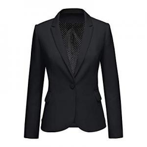 GRAPENT Women Notched Lapel Business Casual Pocket Work Office Blazer Jacket Suit now 62.0% off