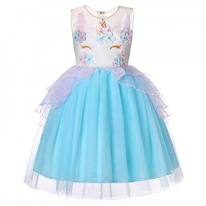 35.0% off Molliya Unicorn Costume Dress Girl Princess Pageant Party Dresses Flower Evening Gowns T..
