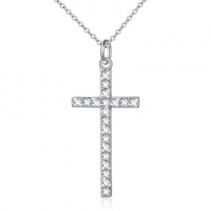 One Day Only!925 Sterling Silver Dainty Cross Pendant Necklace for Women Girls Christian Birthday ..