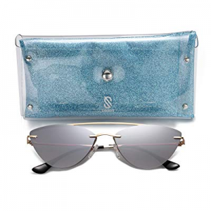 One Day Only!SOJOS Cateye Sunglasses for Women Narrow Metal Frame Mirrored Lens STYLING now 80.0% ..