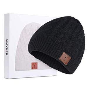Amyker Bluetooth Beanie now 50.0% off , Bluetooth 5.0 Wireless Knit Winter Hats Cap with Detachabl..