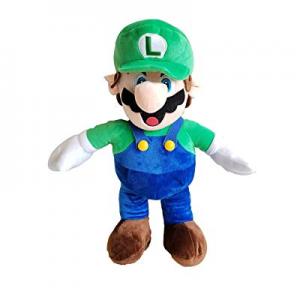 illuOKey Super Mario Plush Doll Mario Soft Stuffed Plush Toys - 16.5 inches (Luigi) now 50.0% off