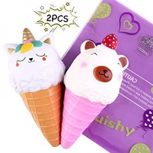 CREFUN Ice Cream Cone Squishy Pack NM9213 (2019 New) 7.3 Inch 2Pcs Jumbo Slow Rising Cute Squishie..
