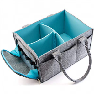 10.0% off Premium Baby Diaper Caddy Organizer | Portable Nursery Storage Bin | Car Seat Tote with ..