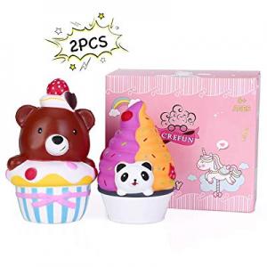 40.0% off CREFUN Bear Cake Squishy Panda Ice Cream Pack NM9212 (2019 New) Slow Rising Cute Squishy..