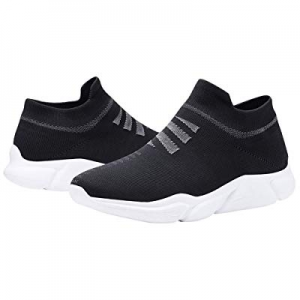 Men's Slip on Shoes - Lightweight Breathable Running Sneakers Walking Shoes now 70.0% off
