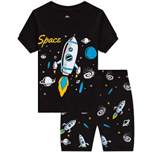 One Day Only!55.0% off IF Family Pajamas for Boys Baby Summer Clothes Toddler Kids Space PJs Short..
