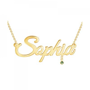 One Day Only!80.0% off Personalized Name Necklace 18K Gold Plated Customized Necklace Custom Namep..