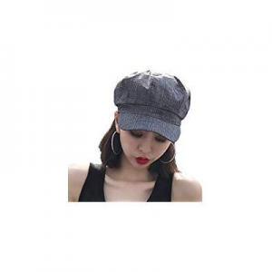 One Day Only!Inconly Womens Newsboy Cap Cabbie Hat for Women Fall Paperboy Cap Visor Beret Black n..