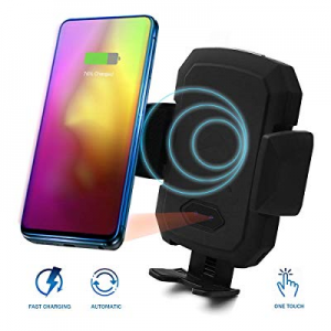 55.0% off Acumen Wireless Car Charger Mount with Infrared Sensor Automatic Clamping Phone Holder A..