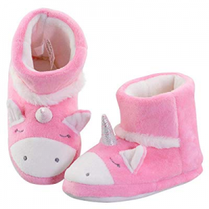 VLLY Girl's Unicorn Boots Winter Cute Warm Comfy Booties Slippers House Shoes now 20.0% off